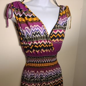 Aztec print maxi dress